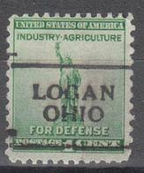 USA Precancel Vorausentwertung Preo, Locals Ohio, Logan 701 - Precancels