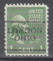 USA Precancel Vorausentwertung Preo, Locals Ohio, London 701 - Precancels