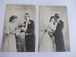 Lot De 2 Cartes D'une Même Série Prémices De Bonheur Edition à Déterminer Noté Nancy - Postcards