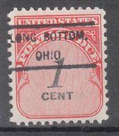 USA Precancel Vorausentwertung Preo, Locals Ohio, Long Bottom 807 - Precancels