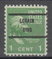 USA Precancel Vorausentwertung Preo, Bureau Ohio, Lorain 804-71 - Precancels