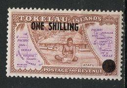 Tokelau Islands 1956  1sh Map Issue #5  MLH - Tokelau
