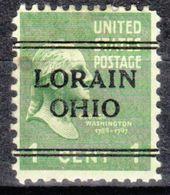 USA Precancel Vorausentwertung Preo, Locals Ohio, Lorain 241 - Precancels