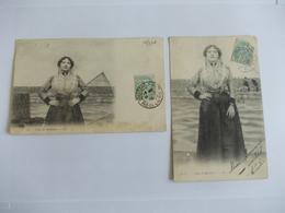 Lot De 2 Cartes D'une Même Série Type De Matelote - Postcards