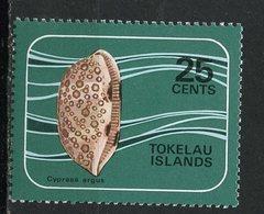 Tokelau Islands 1974  25 Cent Shell Issue #44  MLH - Tokelau