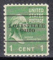 USA Precancel Vorausentwertung Preo, Locals Ohio, Louisville L-1 TS - Precancels