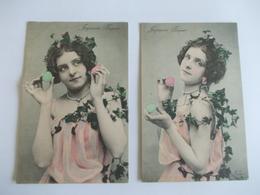 Lot De 2 Cartes D'une Même Série Joyeuses Paques - Postcards