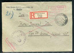 Enveloppe En Recommandé De Prerau En Franchise Militaire En 1943 Pour Arsenal De Wien - Ref F265 - Lettres & Documents