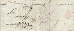 Marque D'arrivée De LIMOUX Du 27 Mars 1821 - 1801-1848: Voorlopers XIX