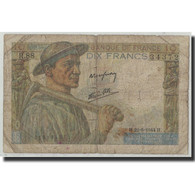 France, 10 Francs, 10 F 1941-1949 ''Mineur'', 1944, 1944-06-22, B, Fayette:8.12 - 1871-1952 Circulated During XXth