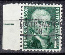 USA Precancel Vorausentwertung Preo, Locals Ohio, Lower Salem 841 - Precancels