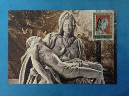 VATICANO CARTOLINA MAXIMUM CARD N. 7 - 40° CONGRESSO EUCARISTICO INTERNAZIONALE LA PIETA' DI MICHELANGELO - Cartoline Maximum