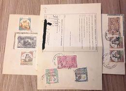 Storia Postale - Lotto Di 3 Bollettini Affrancati Con Francobolli Celebrazioni Colombiane - 1946-.. République