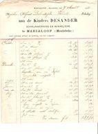 Factures Desander Schrijwerkers & Winkeliers Marialoop (Meulebeke) 1915&1916 Pour Thielt (Tielt) VP64 - 1900 – 1949