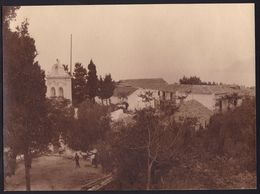 RARE LARGE PHOTO - VIEW OF ** MONASTERY OF KIPARIA CEPHALONIA ** - 21 X 16CM -  ! - Grèce