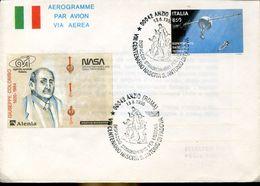 31053 Italia Aerogr With Special  Post. Anzio 1995 VIII Centenary Birth St.anthony,flight To Lisbon Portugal, St.antoine - Christianity