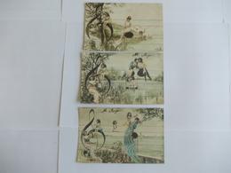 Lot De 3 Cartes D'une Même Série Edition AN Armand Noyer Paris - Postcards