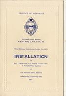 Franc Maçon Maçonnique Loge Lodge West Drayton Gatehouse Masonic Halll Staines - Programmes