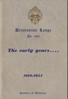 Franc Maçon Maçonnique Loge Draytonian Lodge Drayton Angleterre England Masonic - Programma's