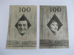 Lot De 2 Cartes D'une Même Série 100 Edition Bergeret Nancy - Postcards