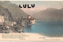 SUISSE : VD : Précurseur édit. T Pfaff N° 2222 : Lac Léman Avec Un Vers De Henri Durand - VD Vaud