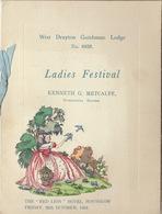 Franc Maçon Maçonnique Loge Draytonian Lodge Drayton Ladies Festival  Hounslow Angleterre England Masonic - Programmes