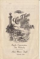 Franc Maçon Maçonnique Loge Canal Zone Lodge Masonic Ancon Temple - Programmes