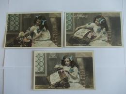 Lot De 3 Cartes D'une Même Série Envoi De Pâques Edtion SIP - Postcards
