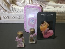 Parfum عطر духи Perfume VIOLETTA DI PARMA NATALE COLORI From Vintage Collection Mignon Complete Set Metallic - Miniaturen Damendüfte (mit Verpackung)