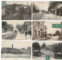 46 CP TRAINS à St QUENTIN_ALLEREY_HARGICOURT-PIERREPONT_ St.HEAND_ 2 Sans Trains Voir Description. N°035 - Postcards