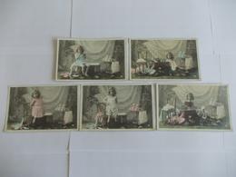 Lot De 5 Cartes D'une Même Série De Moreau Paris - Postcards