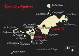 1 MAP Of Apotres Islands Zu Den Crozet Inseln * TAAF * Inselgruppe Im Indischen Ozean - Landkarten
