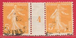France Millésime N°158 5c Orange 1904 (PARIS) O - Millésimes