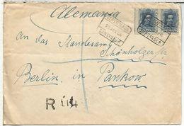 SANTANDER CANTABRIA 1926 CC CERTIFICADA A ALEMANIA AL DORSON MAT BILBAO CAMBIO Y LLEGADA BERLIN - 1889-1931 Kingdom: Alphonse XIII