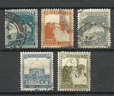 PALESTINE 1927, Architecture, 5 Stamps, O - Palestine