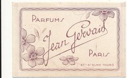 Carte Parfumée - Parfums Jean Gervais, Paris - Perfume Cards