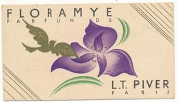 Carte Parfumée - Floramye - L. T. Piver, Paris - Perfume Cards