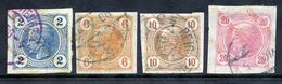 AUSTRIA 1901 Newspaper Set With Varnish Bars Fine Used.  Michel 101-104 - Journaux