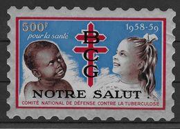 France Grande Vignette Contre La Tuberculose 1958-1959 - TB - Erinnofilia