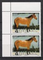 SENEGAL (2002) - 2x1V (**MNH) - CHEVAUX / LE FOUTANKE (COIN) - Senegal (1960-...)