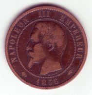 Napoléon III Tête Nue . 10 Centimes 1856 A - D. 10 Centimes