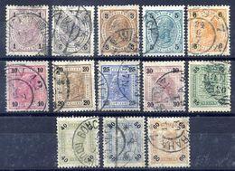 AUSTRIA 1901 Franz Joseph I With Varnish Bars Fine Used.  Michel 84-96 - 1850-1918 Empire