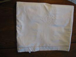 187 - Drap Brodé De Jours échelle Et Monogrammé MB - Bed Sheets