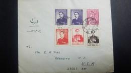 O) 1956 MIDDLE EAST-PAKISTAN, MOHAMMED REZA SHAH PAHLAVI, SCOTT A82  A83  A97 - 10 DINARS-1.50 R. - 50 DINARS, TO US - Iran