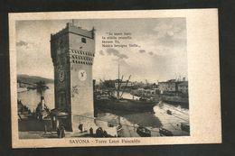 SAVONA - TORRE Leon PANCALDO - ( Spedita Nel 1936 ) ANIMATA - Savona