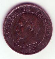 Napoléon III Tête Nue . 10 Centimes 1856 MA - Francia