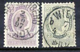 AUSTRIA 1896 Franz Joseph I 1 G. And 2 G. Changed Colours Fine Used.  Michel 67-68 - 1850-1918 Empire