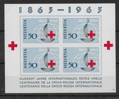 Suisse Bloc N°19 - Neuf ** - Petit Pli En Angle Sinon TB - Blocks & Kleinbögen