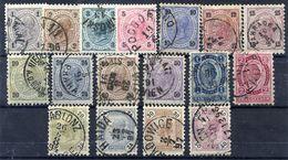 AUSTRIA 1890-91 Franz Joseph Definitive Sets Fine Used. Michel 50-62, 63-66 - 1850-1918 Empire