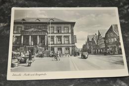 1038   Detmold Markt Und Langestrasse   Animiert  Auto  1953 - Detmold
